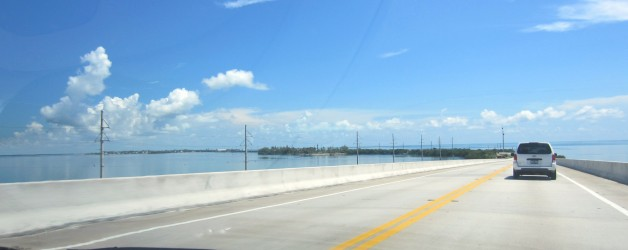 Driving up the Florida Keys