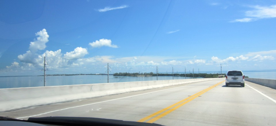 Driving up the Florida Keys