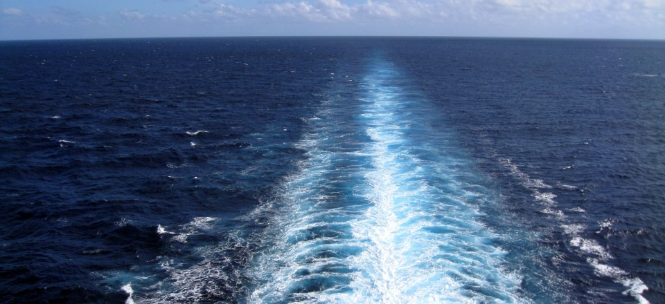 Day at Sea in the Caribbean